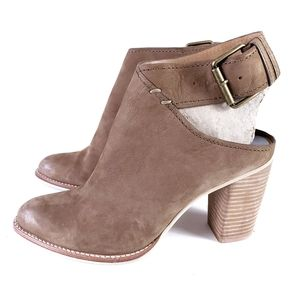 Dolce Vita Jacklyn Cut Out Booties Stacked Heel